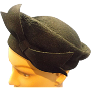 Brigitte Black Beaver Felted Beaver Pill Box Hat Front Bow