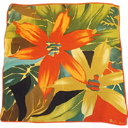 Anne Klein Tropical Print Silk Scarf