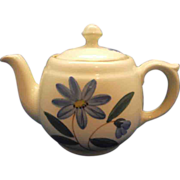 Shawnee Teapot Blue Hand Painted Flowers