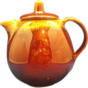 Hull Brown Drip 5 Cup Teapot