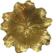 Virginia Metalcrafters May Apple Leaf Solid Brass Oskar Hansen 1948