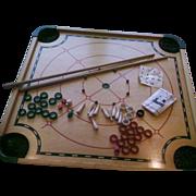 Merdel Carom Board#100 Game Set Original Box All Pieces 1960s