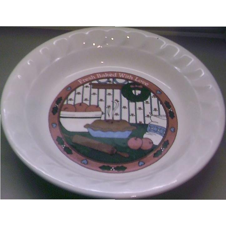Fresh Baked With Love Pie Plate Pan Korea