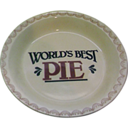 World's Best Pie Plate Pan Baker Red Blue