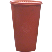 Tupperware Orange Tall Canister 1222-4