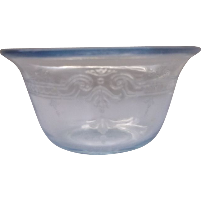 Fire-King Sapphire Blue Philbe Custard Cup Oven Ware