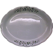 Dogwood Buffalo China Restaurant Ware Oval Platter 12""