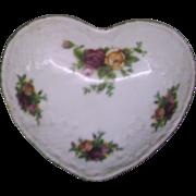 Royal Albert Old Country Roses Heart Shaped Trinket Box