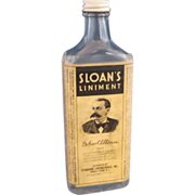 Sloan's Liniment Embossed Bottle 1930s Paper Label