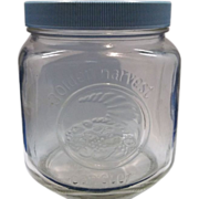 Golden Harvest Short Canister Blue Lid