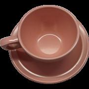 Prolon Pink Melmac Cup & Saucer