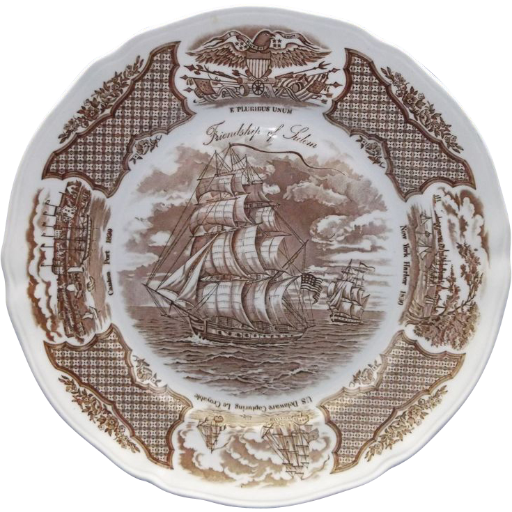 Fair Winds Dinner Plate Alfred Meakin