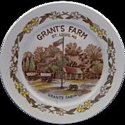 Grant's Farm St. Louis MO Grant's Cabin Multicolor Transferware Plate