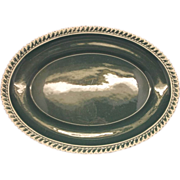Harker Corinthian Dark Green Gadroon Edge Oval Platter