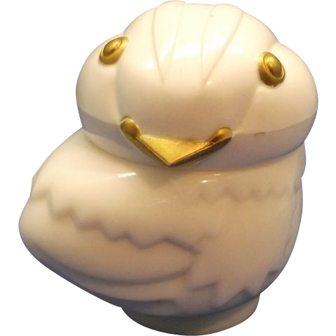Avon Chick Baby Bird White Milk Glass Bottle