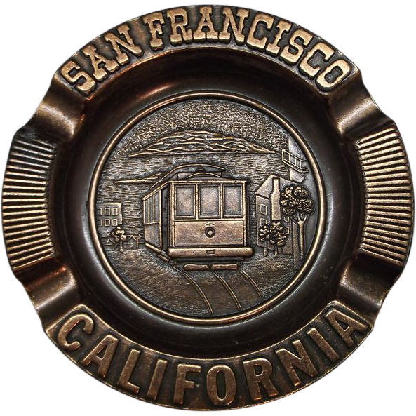 San Francisco Souvenir Copper Ashtray Century Canada