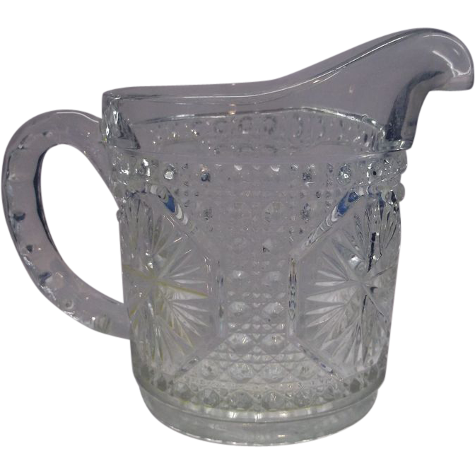 Imperial Glass Amelia Star Medallion Clear Cream Pitcher