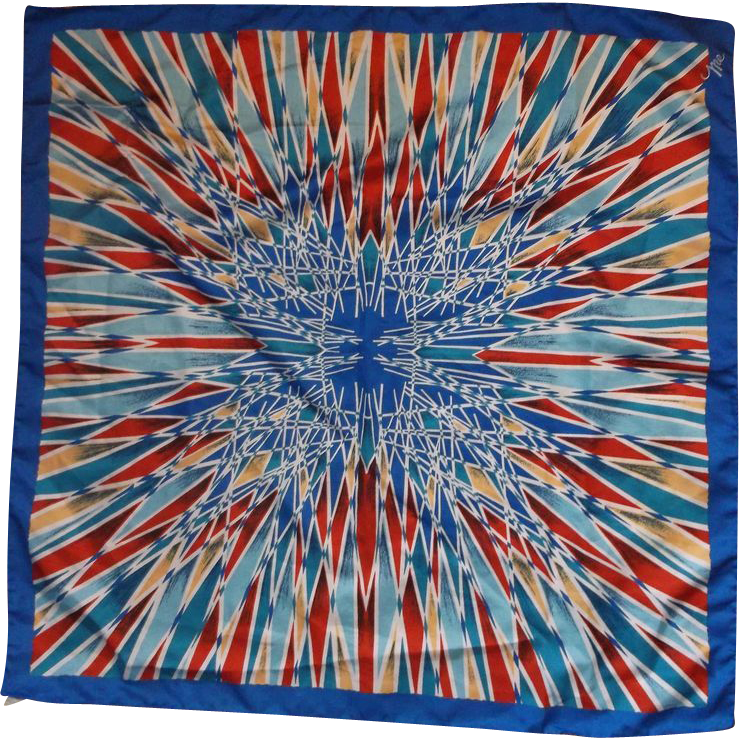 "Mr. Emperor Kaleidoscope Polyester Scarf 25"" Square"