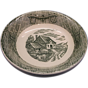 Scio Green Currier & Ives Fruit Dessert Sauce Bowls