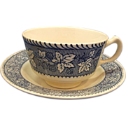 Homer Laughlin Shakespeare Country Cup & Saucer