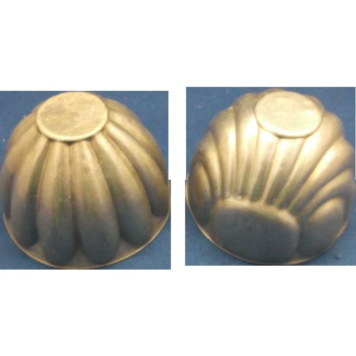 Small Tin Jello Pudding Mold Pair