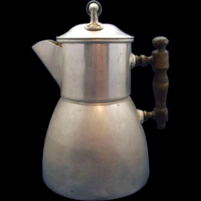 Wearever Aluminum Coffee Pot Percolator Pat. June 10, 1902