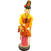 Asian Girl Molded Cloth International Souvenir Doll