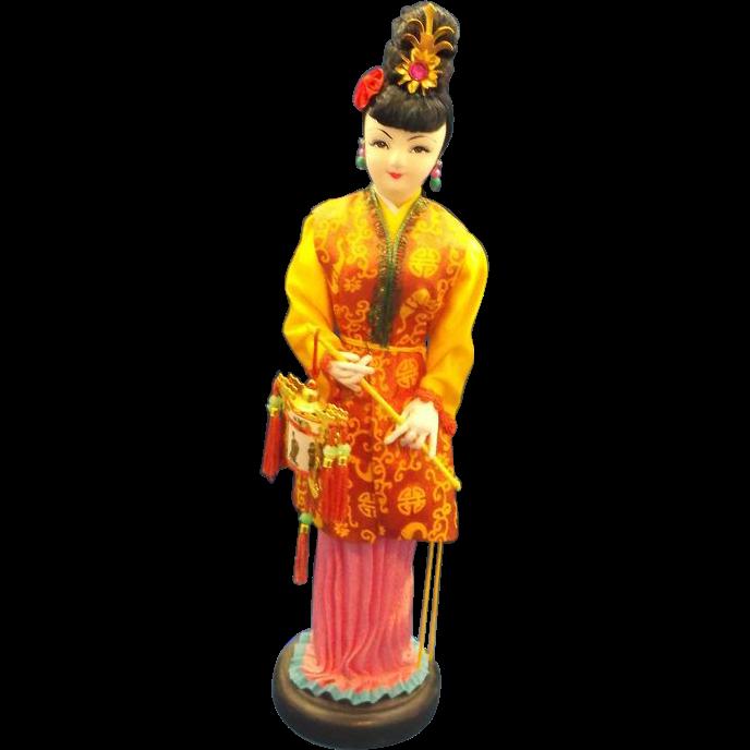 Asian Girl Molded Cloth International Souvenir Doll