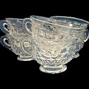 Fostoria American Flared Cups Set of 6