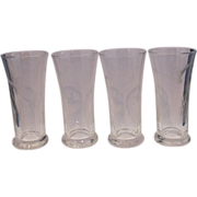 Cut Glass Game Birds Geese Ducks Wild Birds Hunting Tumblers