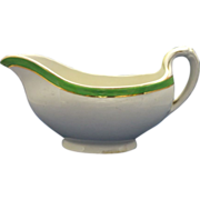 Wood & Sons Gravy Boat Green Band Rim