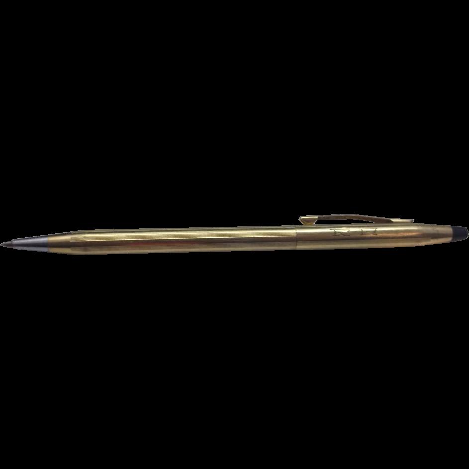 Cross Century 12K Gold Filled Ballpoint Pen Engraved Initials