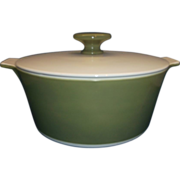 Corning Avocado Round Buffet Server 1.75 Qt Casserole
