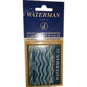 Waterman Ink Cartridge Box of 8 Blue/Black Ink