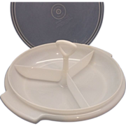 Tupperware Sheer White Suzette Divided Relish Tidbit