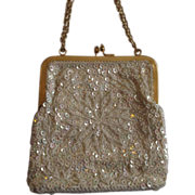 Hong Kong Beaded Iridescent Evening Bag