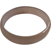 Smoky Grey Brown Bangle Bracelet Lucite