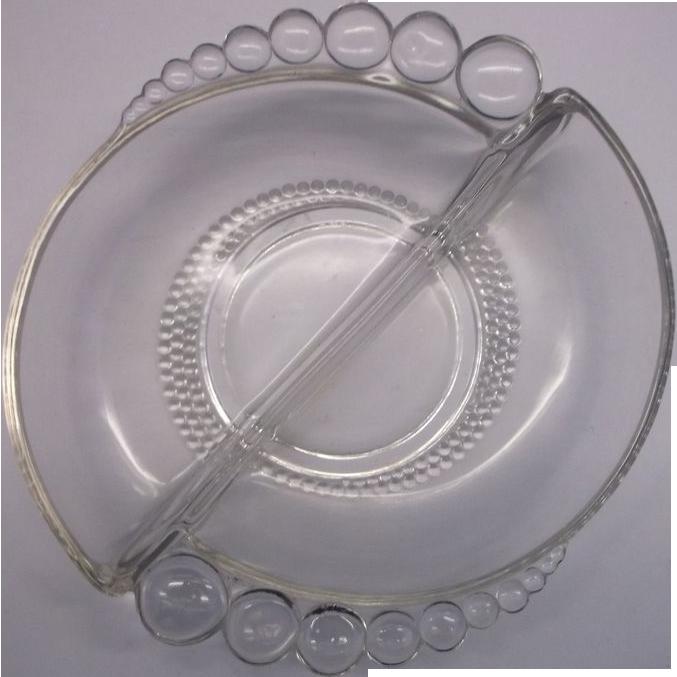 Duncan Miller Teardrop Nut Dish Divided