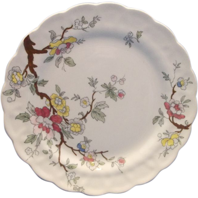 Booths Chinese Tree Salad Plate England