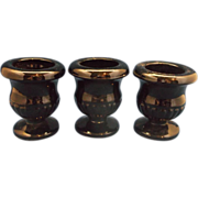 Tiara Exclusives Black Glass Mini Urns Toothpick Holders