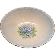 Wheelock Porcelain Blue Rose Lustre Bowl