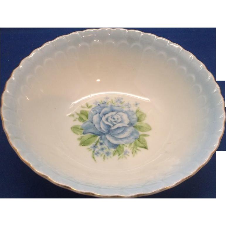 Wheelock Porcelain Blue Rose Lustre Bowl