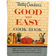 Betty Crocker Good and Easy Cookbook Spiral Bound 1954`