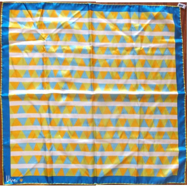 Vera Blue Green Orange Triangles Scarf Polyester
