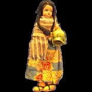 Native American or South/Central American Cloth Souvenir Doll