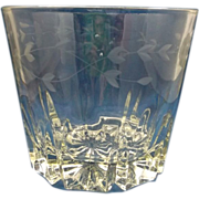 Princess House Heritage Ice Bucket Grey Floral Cut Crystal