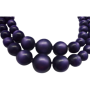 Purple Moonglow Double Strand Necklace Choker