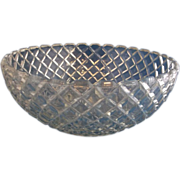 Anchor Hocking Waterford Waffle Depression Glass Serving Bowl 8 1/4""