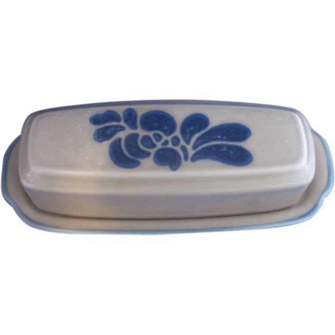 Pfaltzgraff Folk Art Butter Dish With Lid
