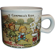 Campbell's Kids Soup Mug Small Westwood 1994 1910 Postcard Design